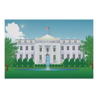 The White House Xtra Large 60 x 40 in Poster