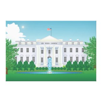 The White House XXL 60 X40 in Canvas Print