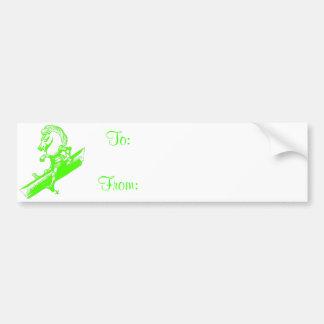 The White Knight in Apple Green Bumper Sticker