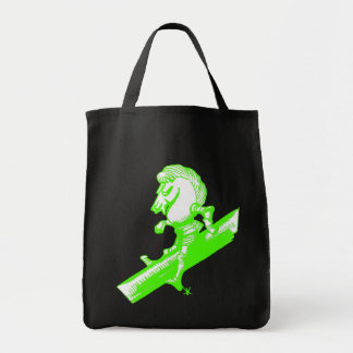 The White Knight in Apple Green Tote Bag
