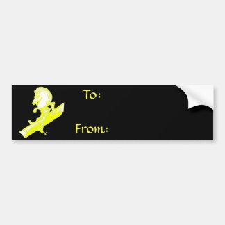 The White Knight in Banana Yellow Bumper Sticker