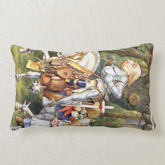 The White Knight Through the Looking Glass Lumbar Pillow