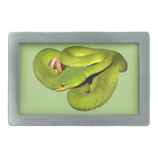 The white-lipped pit viper rectangular belt buckle