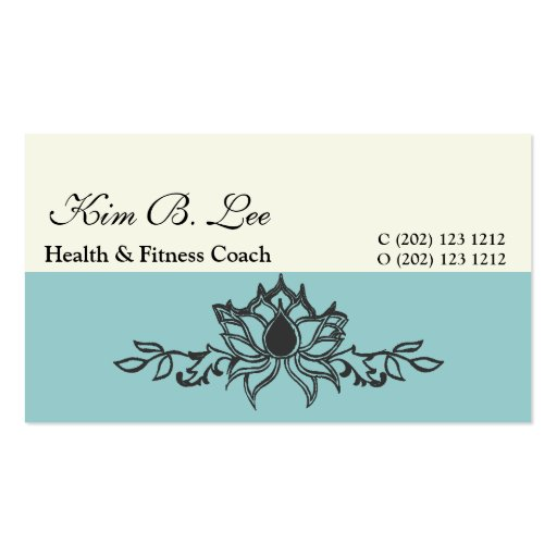 The  White Lotus Flower Business Cards