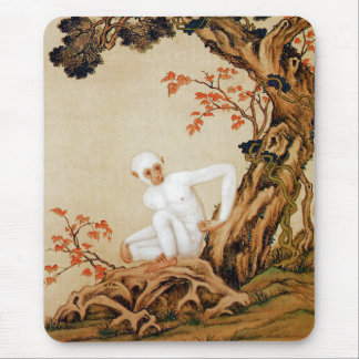 The White Monkey Mouse Pad