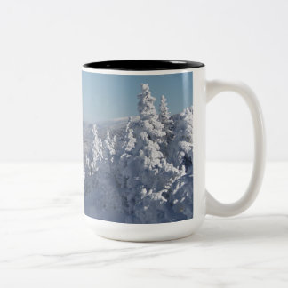 the white mountains of New Hampshire Two-Tone Coffee Mug
