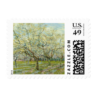 The white orchard by Vincent Van Gogh Postage Stamp