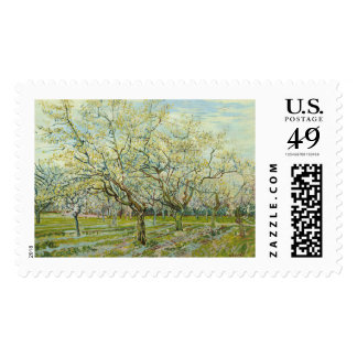 The white orchard by Vincent Van Gogh Stamp