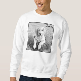 The white Penny in the tire sweatshirt