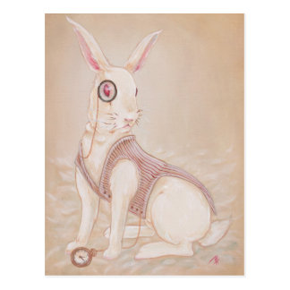 The White Rabbit - Alice in wonderland postcard