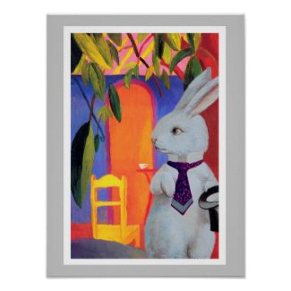The White Rabbit at Macke's Turkisches Cafe