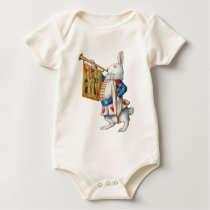 The White Rabbit Blows the Trumpet In Wonderland Baby Bodysuit