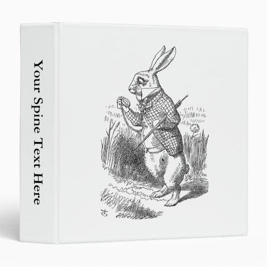 The White Rabbit Checks His Watch Binder