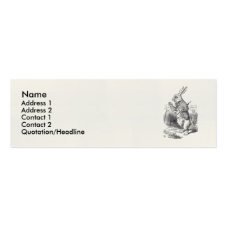 The White Rabbit Checks His Watch Business Card Templates