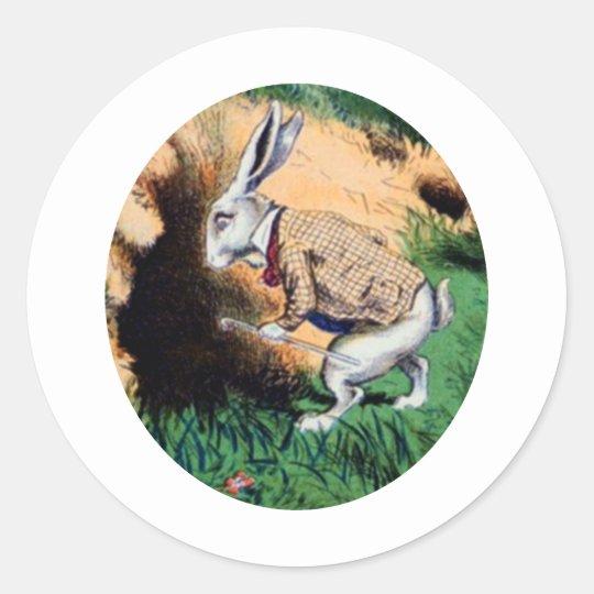 The White Rabbit Classic Round Sticker