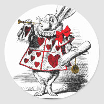 The White Rabbit Classic Round Sticker