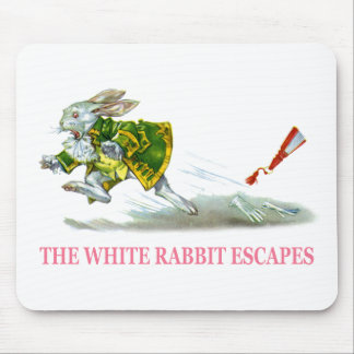 The White Rabbit Escapes Mouse Pad
