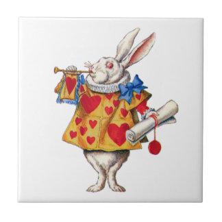 The White Rabbit From Alice in Wonderland Ceramic Tile