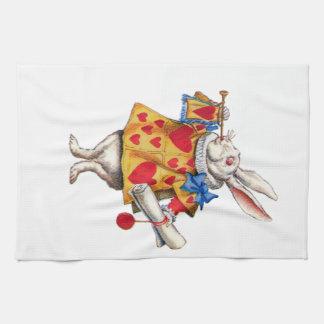 The White Rabbit From Alice in Wonderland Kitchen Towel