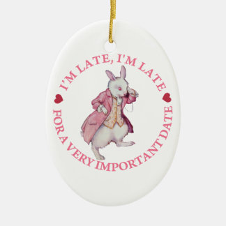 The White Rabbit From Alice in Wonderland Christmas Ornaments