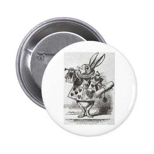 The White Rabbit from Alice in Wonderland Pinback Button