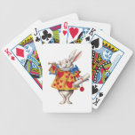 The White Rabbit From Alice in Wonderland Poker Cards