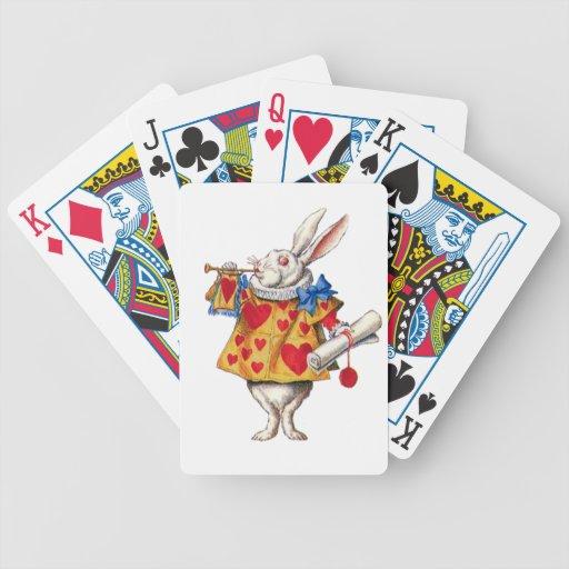 The White Rabbit From Alice in Wonderland Poker Cards