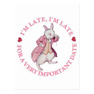 The White Rabbit From Alice in Wonderland Postcard
