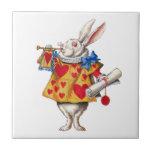 The White Rabbit From Alice in Wonderland Ceramic Tiles