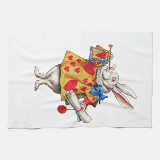 The White Rabbit From Alice in Wonderland Towel