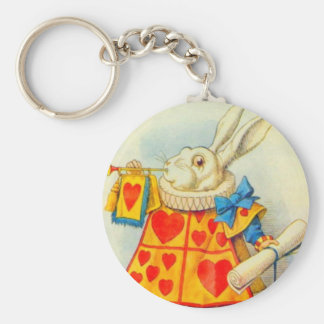The White Rabbit Full Color Basic Round Button Keychain