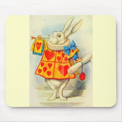 The White Rabbit Full Color Mouse Pad