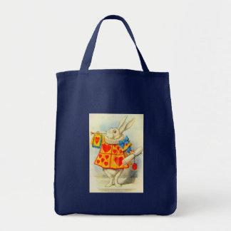 The White Rabbit Full Color Tote Bag