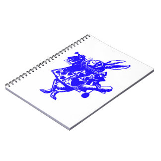 The White Rabbit in Blue Notebook