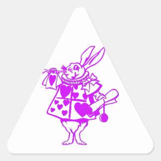 The White Rabbit in Purple Triangle Sticker