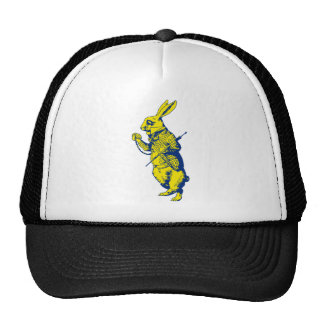 The White Rabbit Inked Blue Yellow Trucker Hat