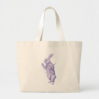 The White Rabbit Inked Lavender Large Tote Bag