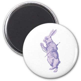 The White Rabbit Inked Lavender Magnet