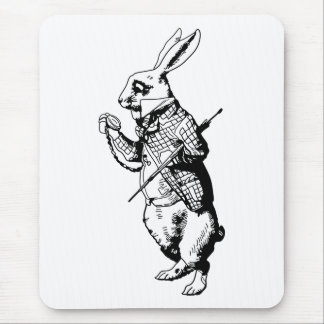 The White Rabbit - Inked Mouse Pad