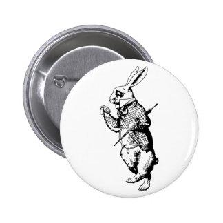 The White Rabbit - Inked Pinback Button