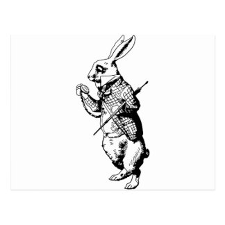The White Rabbit Inked Postcard