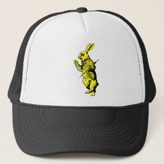 The White Rabbit Inked Yellow Fill Trucker Hat