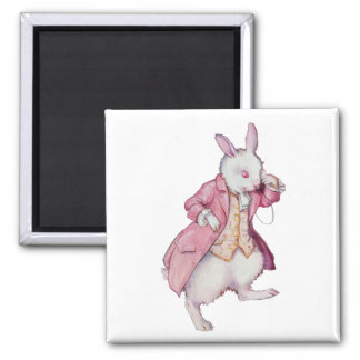 The White Rabbit or Peter Cottontail 2 Inch Square Magnet