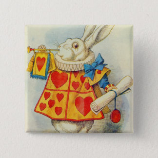 The White Rabbit Pinback Button