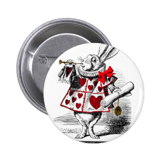 The White Rabbit Pinback Button
