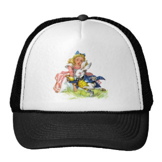 The white rabbit races by Alice Trucker Hat