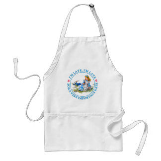 The White Rabbit Rushes By Alice In Wonderland Adult Apron