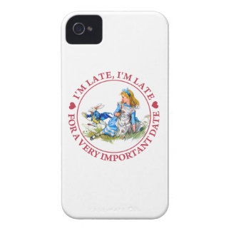 The White Rabbit Rushes By Alice in Wonderland iPhone 4 Covers