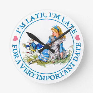 The White Rabbit Rushes By Alice In Wonderland Clock