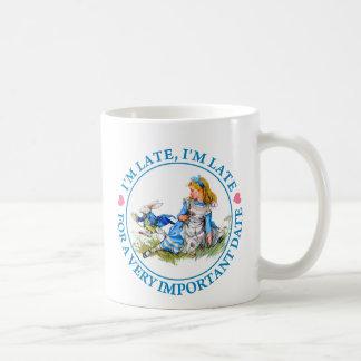 The White Rabbit Rushes By Alice In Wonderland Coffee Mug